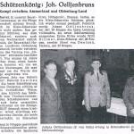 Zeitungsbericht zum Königsschießen 1956