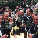 Umtrunk 1967 beim Schützenkönig Fritz Witte
