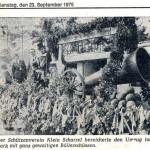 Teilnahme am Ernteumzug  in Achternmeer mit Kanone 1975