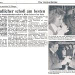 Das Pokalschießen anläßlich  des Gemeindeschützenfestes  im Juli 1979 in Klein Scharrel  wurde die die Nordwest-Zeitung  ausführlich erwähnt.