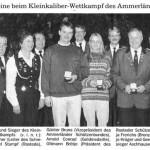 Die Klein Scharreler  Schützen errangen im  Oktober 1996 den ASB- Pokal beim Kleinkaliber- Schießen in Aschhausen.